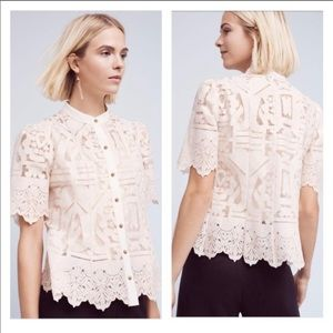Anthropologie Lace Blouse - Size 4